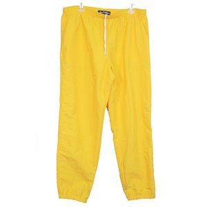 vintage rare SURF STYLE yellow windbreaker pants